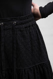 STONE ROSES SKIRT- BLACK EMBROIDERED LACE
