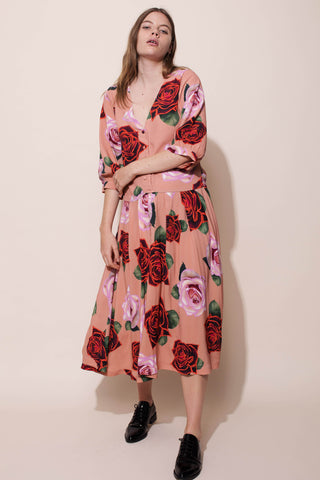 FLEUR DRESS - ELECTRIC ROSES