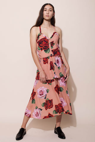 FLORENTINE DRESS - ELECTRIC ROSES