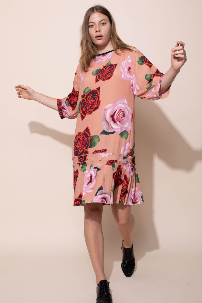 CEREMONY T DRESS - ELECTRIC ROSES