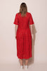 PATIENCE DRESS - RED LACE