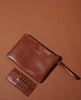 DISRUPTION CLUTCH AND CARD - TAN LEATHER