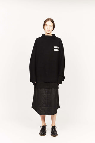 THE DISARRAY JUMPER, BLACK