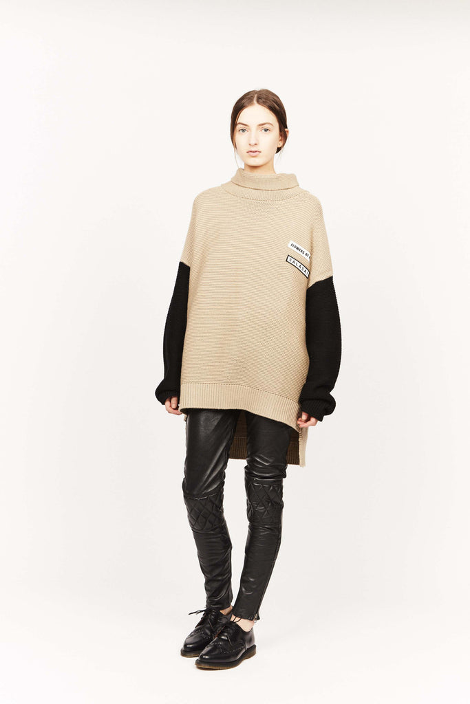 THE DISARRAY JUMPER, LINEN/BLACK