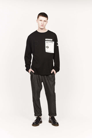 GENUINE L/S TEE 1.0, BLACK