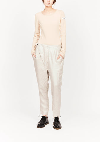 THEORY PANT SILVER METALLIC