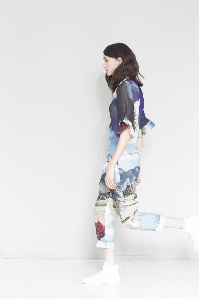 Worldly pant, print