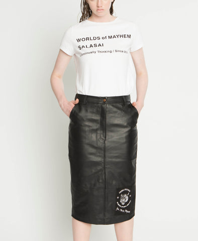 WORLS OF MAYHEM LEATHER SKIRT