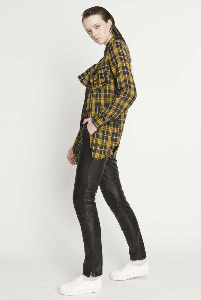 Mayhem T Dress, Yellow check
