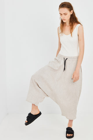 UNTITLED PANT, NATURAL LINEN
