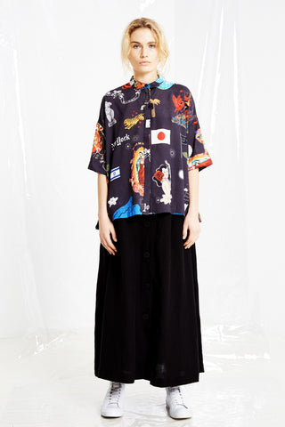 Human Kind Blouse, Black Print