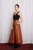 COLD TOWN SKIRT - TAN LEATHERETTE