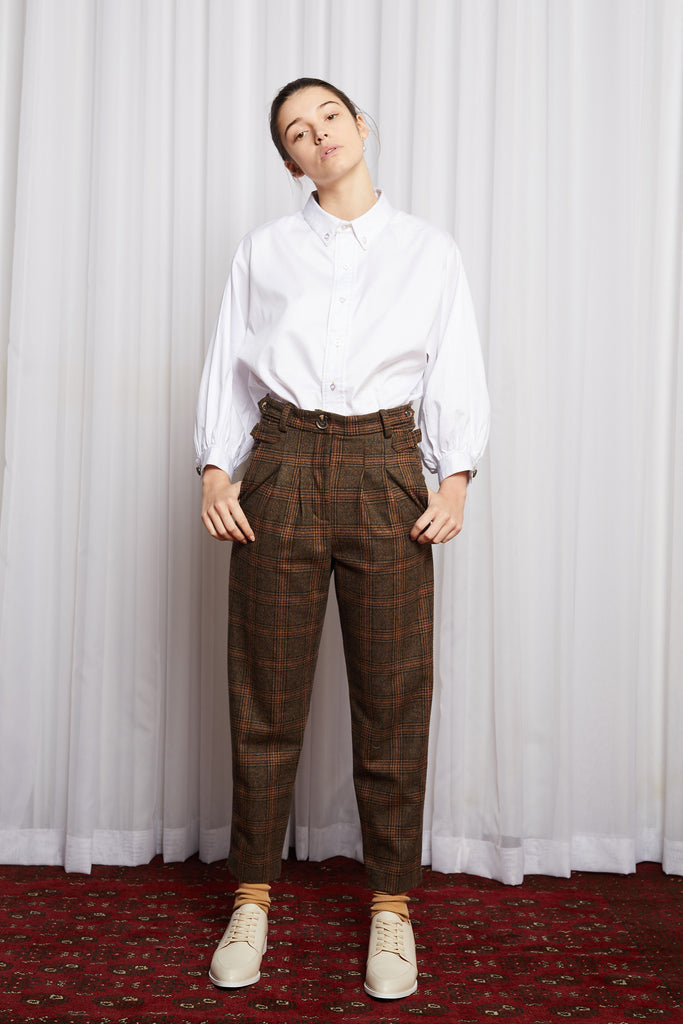 CULT CLASSIC PANT - BROWN CHECK