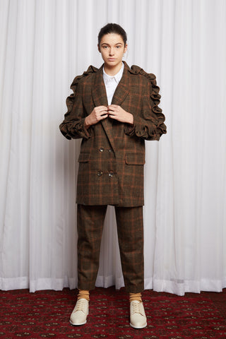 CULT CLASSIC BLAZER - BROWN CHECK