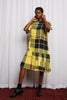 DREAMSCAPE T DRESS - DISRUPTION PLAID