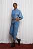ROMANTICS SHIRT - BLUE DENIM TENCIL