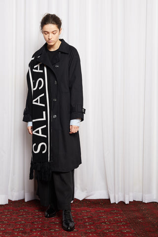 SCIFI SCARF - BLACK MERINO KNIT