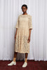 STORY LINE DRESS - CARAMEL EMBROIDERY LACE