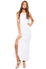 'JEDDA' Maxi Dress, White