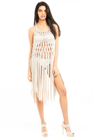 'KIRRA' Woven Beach-Dress, Sand
