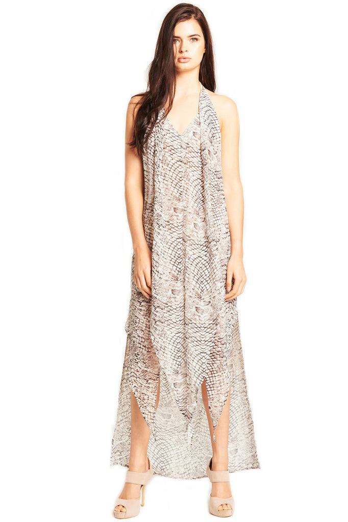 'KAYLA' Maxi Dress in Serpent Print
