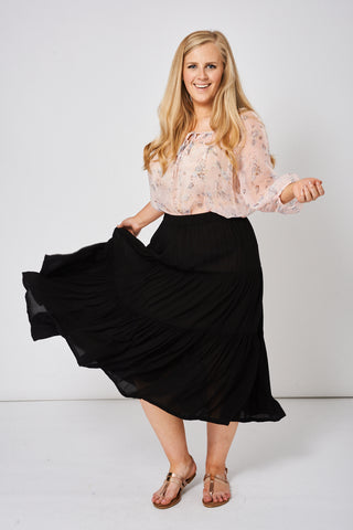 Summer Skirt In Black Ex-Branded