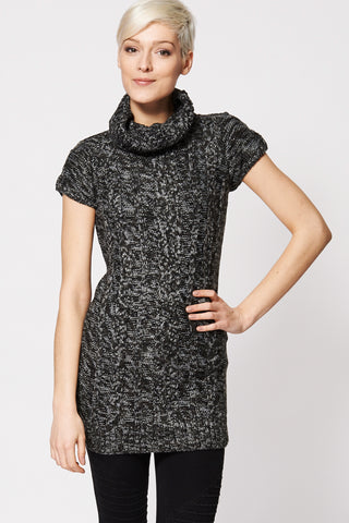Front Cable Knit Cowl Neck Dress Ex-Branded