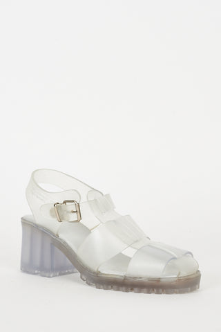 Grey Jelly Sandals Ex-Branded