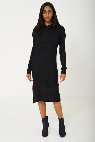 Knitted Dress in Black Ex Branded