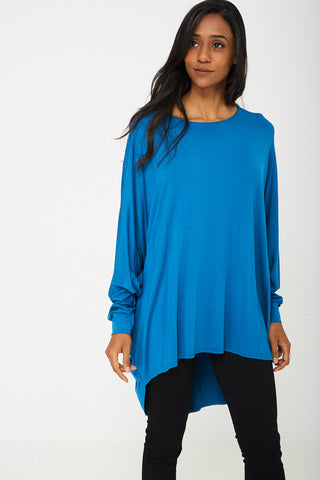 Oversized Tunic Top in Teal