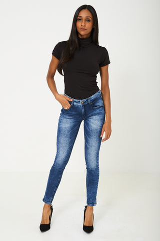 Skinny Jeans in Blue Ex Branded