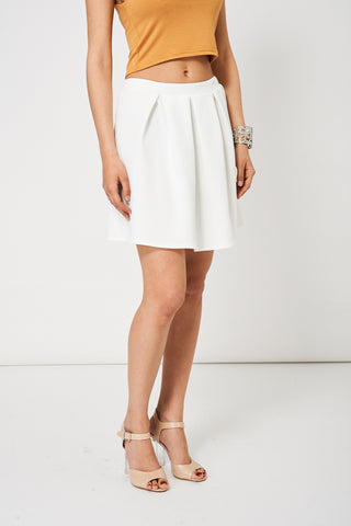 Off White Scuba Skater Skirt