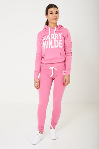 Harry Wilde Logo Sweatpants In Pink