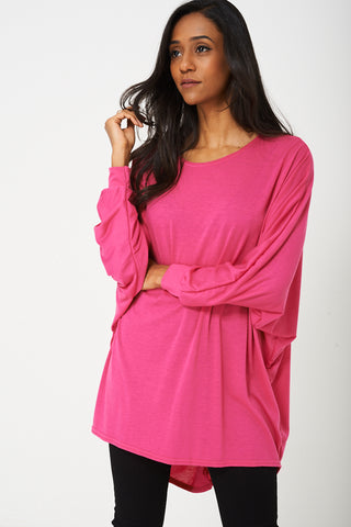 Oversized Tunic Top in Pink