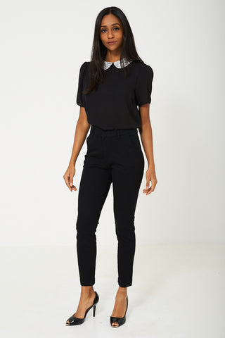 Skinny Fit Jeans in Black Ex Branded