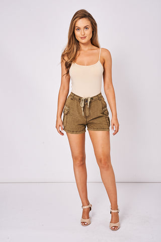 Khaki Casual Shorts Ex-Branded