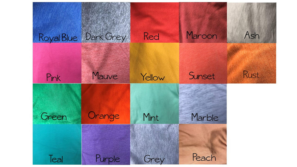 Color Chart Gabriel Clothing Company