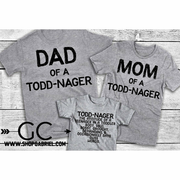Todd-nager Tees ( each sold separately)