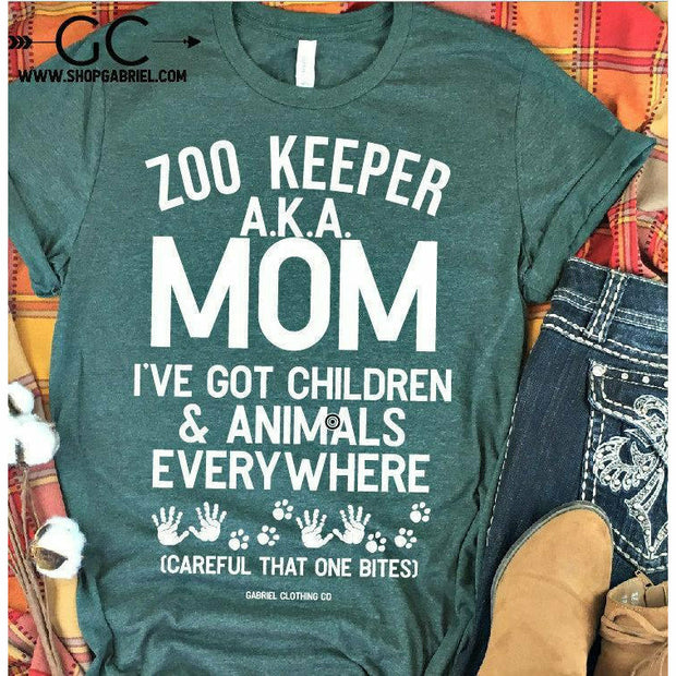 ZOO KEEPER Aka Mom I've got Kids TEE