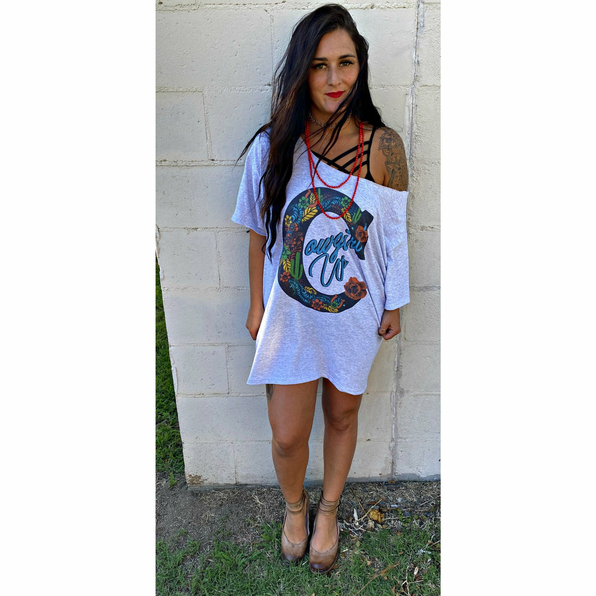 Cowgirl Up t-Shirt Dress