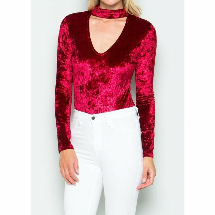 Velvet Red Bodysuit