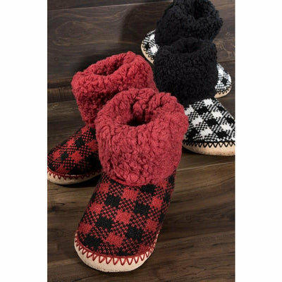 Cozy in love Plaid Slippers