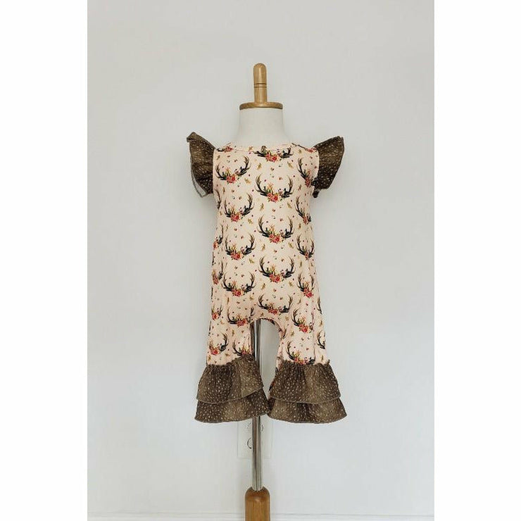 Infant Boho Deer Romper