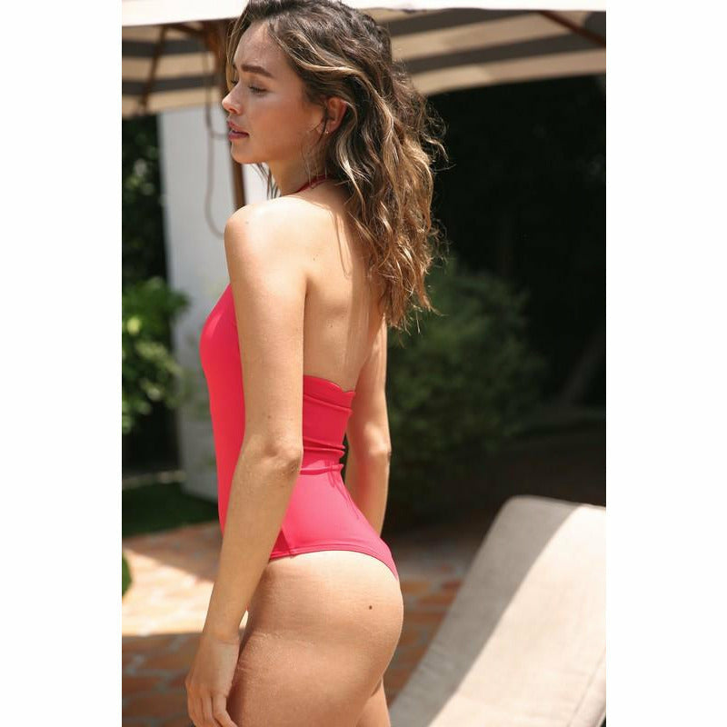 Red Scallop Edge One piece