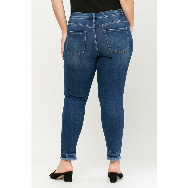 Plus Skinny Frayed Bottom Flying Monkey jean