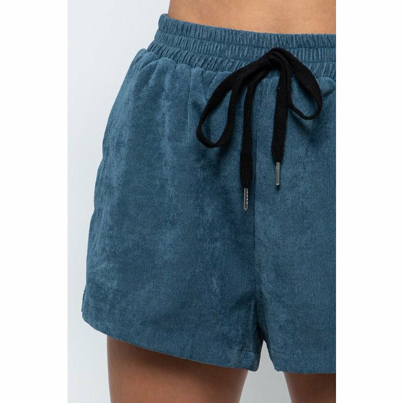 Beachin' Babe Navy Corduroy Shorts