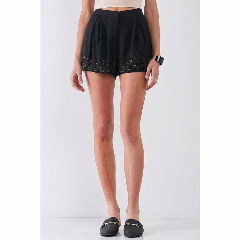 Beaded Trim Shorts