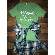 Blessed With Boys Tee - Gabriel Clothing Company