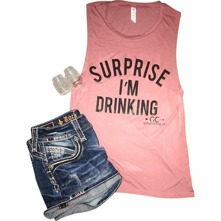 Surprise I'm Drinking TANK ( more colors) - Gabriel Clothing Company
