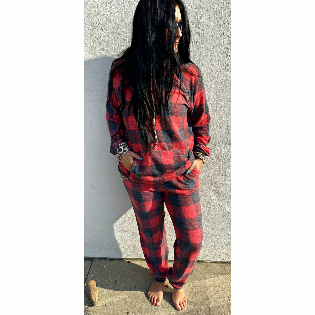 Leopard Buffalo Plaid Set (regular and plus)